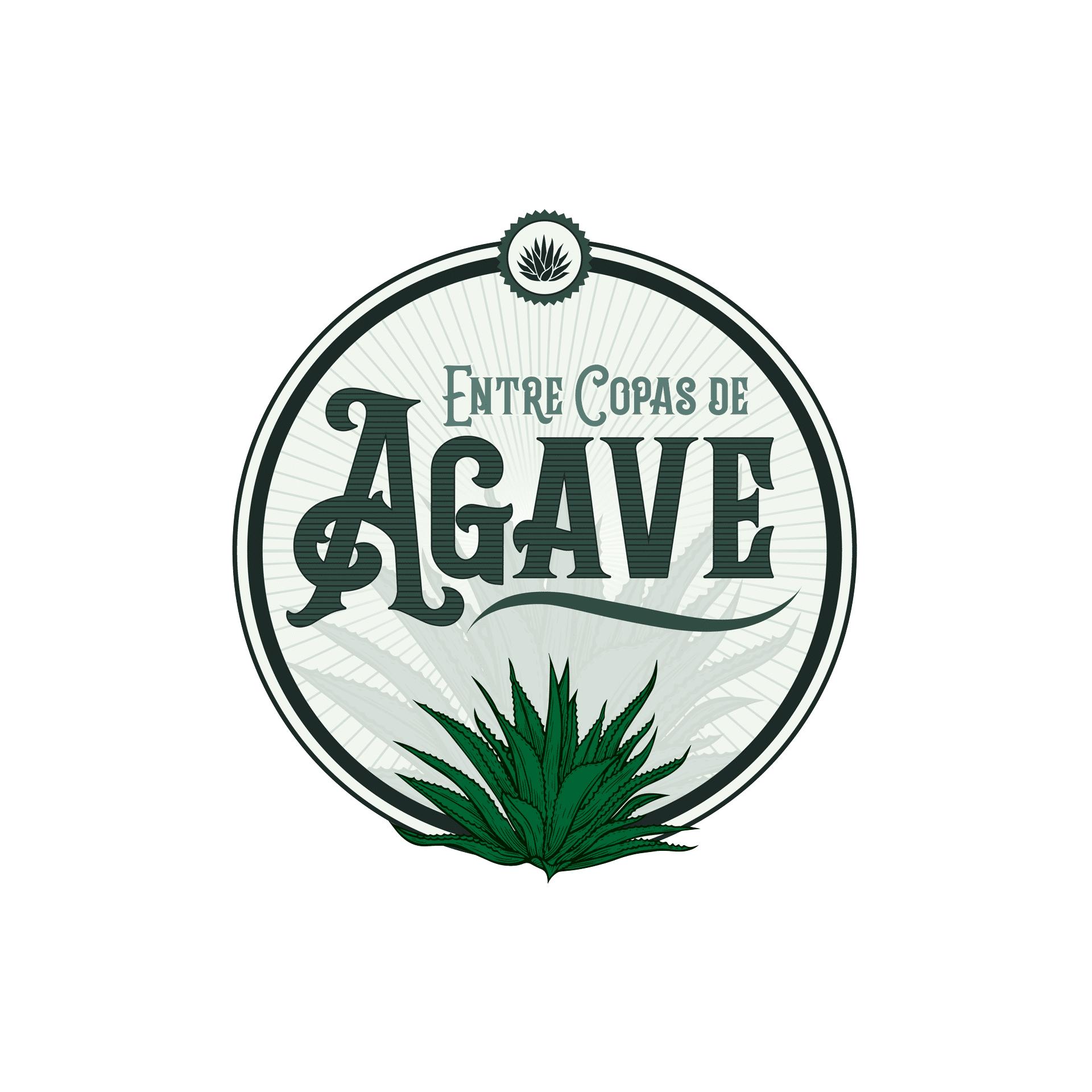 Logo entre copas de agave